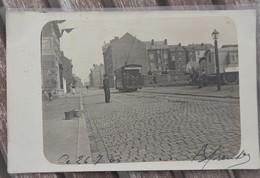 CPA - Charleroi - Tramway 201 - Tram - Rue Tumelaire - Charleroi