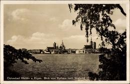 Cp Ostseebad Altefähr Auf Der Insel Rügen, Blick Vom Kurhaus Nach Stralsund - Deutschland