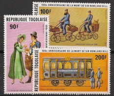Togo - 1979 - Poste Aérienne PA N°Yv. 386 à 388 - Sir Rowland Hill - Neuf Luxe ** / MNH / Postfrisch - Togo (1960-...)