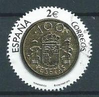 ESPAGNE SPANIEN SPAGNA SPAIN ESPAÑA 2015 NUMISMATIC: COIN 2 PTAS USED ED 5012 MI 5022 YT 4729 SC 4086b - 1931-Today: 2nd Rep - ... Juan Carlos I