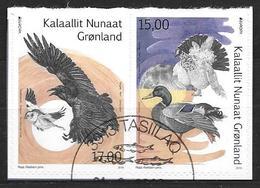 Groënland 2019, Série Oblitérée Adhésive Issue De Carnet Europa Oiseaux - Oblitérés