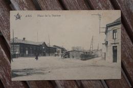 CPA - Ans- Place De La Station - Tram - Tramway - Ans