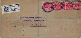1920 , NIGERIA , FRONTAL CERTIFICADO , LAGOS - MERIDEN - Nigeria (...-1960)