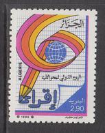 1988 Algeria Algerie Lieracy Education Complete Set Of 1 MNH - Algerien (1962-...)