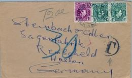 1950 , NIGERIA , SOBRE CIRCULADO , IJEBU - HASTEN , TASA POR INSUFICIENCIA DE FRANQUEO - Nigeria (...-1960)