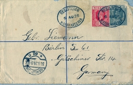 1926 , NIGERIA , SOBRE CERTIFICADO , WARRI - BERLIN , LLEGADA , FR. COMPLEMENTARIO. - Nigeria (...-1960)