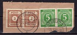 Briefstueck, Ziffern, Entwertet Dresden 1946 (75814) - Zona Soviética