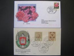 """Deutschland/ DDR- FDC Beleg """"Gartennelke"""" ANK 2721, Beleg Interposta Hamburg 1959 ANK 310-311 - Covers & Documents"""