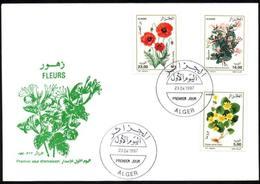FDC/Année 1997-N°1131/1133:  Flores - Fleurs Diverses - Algeria (1962-...)