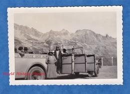 Photo Ancienne Snapshot - Col Du Galibier - Bel Autocar PLM - 1930 - Alpes Lautaret La Grave Saint Michel De Maurienne - Cars