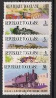 Togo - 1984 - N°Yv. 1158 à 1162 - Trains - Neuf Luxe ** / MNH / Postfrisch - Trains