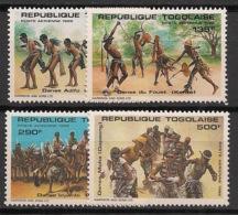 Togo - 1985 - Poste Aérienne PA N°Yv. 544 à 547 - Danses - Neuf Luxe ** / MNH / Postfrisch - Togo (1960-...)