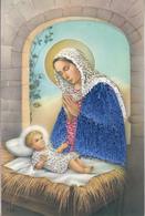 """Carte Brodée """" La Sainte Vierge Et L'Enfant Jésus """" - Brodées"""