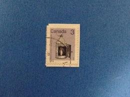 1982 CANADA ORDINARIO LANTERNA STABLE LANTERN 3 FRANCOBOLLO USATO STAMP USED - Usados