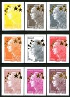 4662A / 4662Q - Maxi-Mariannes Etoiles D'OR  - Complet 15 Valeurs - Cote : 150 Eur. - Neufs - Très Beaux - France