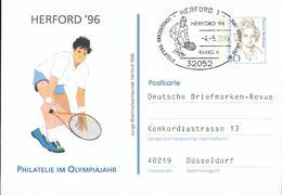 Germany BRD Special PS Card O Used Tennis Olympics Em31 - Tennis