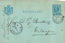 BRIEFKAART AMSTERDAM 1883 - Ganzsachen
