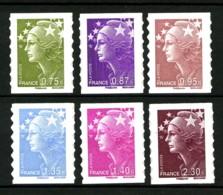 Autoadhésifs - 486 / 491 - Série Marianne De Beaujard - Complet 6 Valeurs - Neufs N** - Très Beaux - Adhesive Stamps