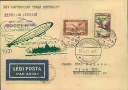 1931, Ungarnfahrt Rückfahrt Ab BUDAPEST - SI 103B - Zeppelins