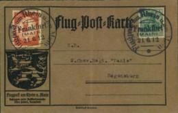 1912, 20 Pfg. Flugpost Rhein-Main Auf Karte SSt FRANKFURT 21.6.12 - Allemagne
