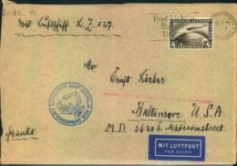 1929, Nordamerikafahrt, Bedarfsbrief Mit Beförderungsmängeln (Sieger 26 A) - Zeppelins