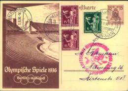 "1936, Zeppelinkarte ""OLYMPIAFAHRT"" - Summer 1936: Berlin"