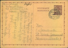 1941, Ganzsachenarte KLV Lager Ab FRANKSTADT - Lettres