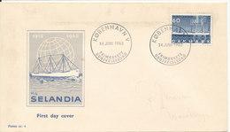Denmark FDC 14-6-1962 M/S Selandia With Cachet - FDC