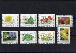 Lot De 8 Timbres Collector Oblitérés; Thème: Fleurs - France
