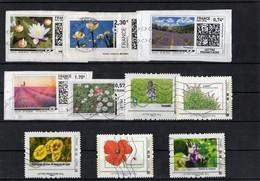 Lot De 10 Timbres -mon Timbramoi _ Collector_ Oblitérés; Thème: Fleurs - France