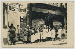 (Berck) Carte Photo De L'Hôtel Restaurant Gressier, Rue Carnot. - Berck