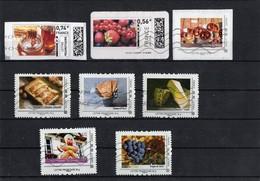 Lot De 8 Timbres -mon Timbramoi _ Collector_ Oblitérés; Thème: La Grande Bouffe - France