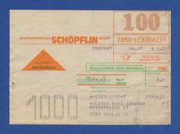 BRD Beleg Nachnahme - Großversandhaus SCHÖPFLIN GmbH, LÖRRACH 1981 - BRD