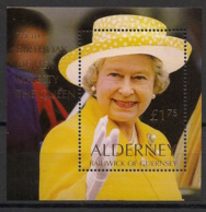 Alderney - 2001 - N°Yv. Bloc 9 - Queen Elisabeth  - Neuf Luxe ** / MNH / Postfrisch - Alderney
