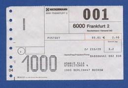 Beleg Postgut NECKERMANN Versand AG FRANKFURT > BERLIN 1981 - BRD