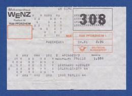 Beleg Päckchen Großversandhaus WENZ, PFORZHEIM > BERLIN 1981 - BRD