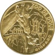 49 DOUÉ LA FONTAINE BIOPARC LES GIRAFES MÉDAILLE SOUVENIR ARTHUS BERTRAND 2007 JETON TOURISTIQUE MEDALS TOKENS COINS - 2007