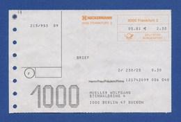 Beleg Brief NECKERMANN FRANKFURT > BERLIN 1981 - BRD