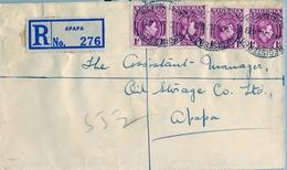 1948 , NIGERIA , SOBRE CERTIFICADO , APAPA - INTERIOR - Nigeria (...-1960)