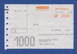 Beleg Brief NECKERMANN FRANKFURT > BERLIN 1981 - [7] Federal Republic