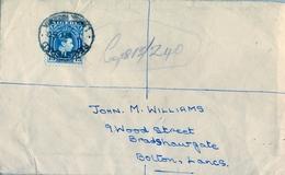 1950 , NIGERIA , SOBRE CERTIFICADO , LAGOS - BOLTON - Nigeria (...-1960)