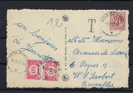 N°TX40 GESTEMPELD OP KAART Woluwe 1955 COB € +10,00 - Covers