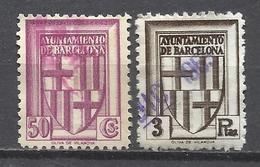 228- COLECCION SELLOS FISCALES AYUNTAMIENTO BARCELONA USADOS GUERRA CIVIL,LOTE.TASAS.LOCALES. LOCAL.SPAIN REVENUE FIS - Barcelona