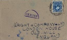 1944 , NIGERIA , SOBRE CIRCULADO , LAGOS - OLD HILL , MARCA DE CENSURA , CENSOR - Nigeria (...-1960)