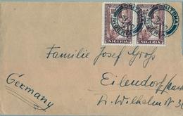 1936 , NIGERIA , SOBRE CIRCULADO , ONITSHA - EILENDORF , TRÁNSITO DE LAGOS - Nigeria (...-1960)