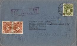 1951 , NIGERIA , SOBRE CIRCULADO , EBUTE METTA - HAMBURG , CORREO AÉREO - Nigeria (...-1960)