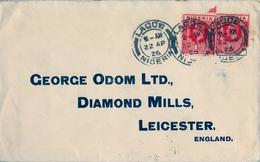 1926 , NIGERIA , SOBRE CIRCULADO , LAGOS - LEICESTER - Nigeria (...-1960)