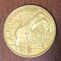 50 CHAMPREPUS LE ZOO LES GIRAFES MÉDAILLE SOUVENIR ARTHUS BERTRAND 2007 JETON TOURISTIQUE MEDALS TOKENS COINS - Arthus Bertrand