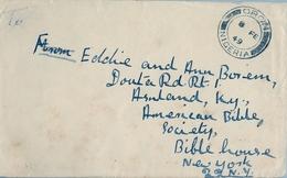 1949 , NIGERIA , SOBRE CIRCULADO , ORON - NEW YORK - Nigeria (...-1960)