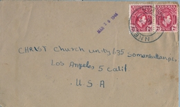 1948 , NIGERIA , SOBRE CIRCULADO , NNEWI - LOS ÁNGELES , TRÁNSITO ONITSHA - Nigeria (...-1960)